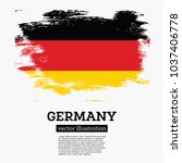 germany flag with brush strokes.... | Shutterstock .eps vector #1037406778