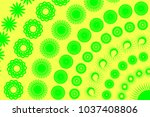abstract green color pattern on ... | Shutterstock . vector #1037408806