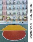 let's play basketball. | Shutterstock . vector #1037409802