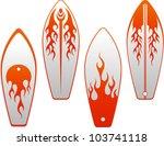 vector surf boards blaze... | Shutterstock .eps vector #103741118