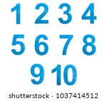 polygonal numerals. creative... | Shutterstock .eps vector #1037414512