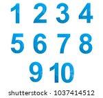 polygonal numerals. creative...   Shutterstock .eps vector #1037414512