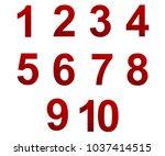 polygonal numerals. creative... | Shutterstock .eps vector #1037414515