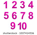 polygonal numerals. creative... | Shutterstock .eps vector #1037414536