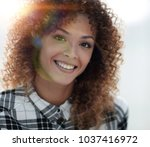 portrait of a beautiful young... | Shutterstock . vector #1037416972