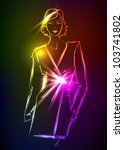 hand drawn fashion model from a ... | Shutterstock .eps vector #103741802