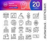 digital marketing line icons... | Shutterstock .eps vector #1037426605