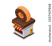 isometrc icon of donut shop | Shutterstock .eps vector #1037429848