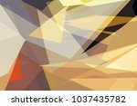 colorful low polygon pastel... | Shutterstock .eps vector #1037435782
