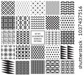 monochrome collection of... | Shutterstock .eps vector #1037437516