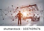 elegant businessman in modern...   Shutterstock . vector #1037439676