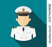 captain of ship in white suit.... | Shutterstock .eps vector #1037440888