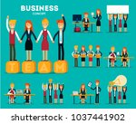 set of businessmen cartoon... | Shutterstock .eps vector #1037441902