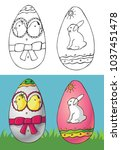 illustration of easter eggs... | Shutterstock .eps vector #1037451478