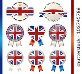 united kingdom union jack... | Shutterstock .eps vector #103745786