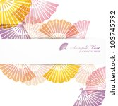 folding fans background | Shutterstock .eps vector #103745792