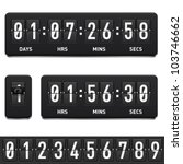 countdown timer. illustration... | Shutterstock .eps vector #103746662