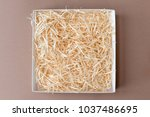 opened gift box with decorative ... | Shutterstock . vector #1037486695