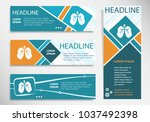 lung icon on horizontal and... | Shutterstock .eps vector #1037492398
