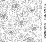 vector seamless pattern with... | Shutterstock .eps vector #1037526412