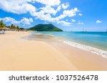 reduit beach   tropical coast... | Shutterstock . vector #1037526478