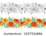 vector seamless pattern with... | Shutterstock .eps vector #1037526886
