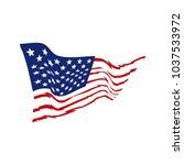 american flag vector   Shutterstock .eps vector #1037533972