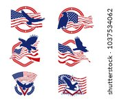 patriot american logo vector set   Shutterstock .eps vector #1037534062