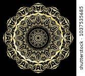 beautiful flower mandala.... | Shutterstock .eps vector #1037535685