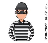 male thief avatar mask cap and... | Shutterstock .eps vector #1037540812
