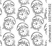 seamless pattern clock alarm... | Shutterstock .eps vector #1037541832