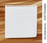 sticky note on wood broad... | Shutterstock .eps vector #1037543686