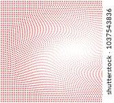 red polka dot halftone pattern. ... | Shutterstock . vector #1037543836