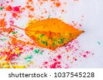 holi powder used to celebrate... | Shutterstock . vector #1037545228