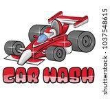 car wash symbol isoalted on...   Shutterstock .eps vector #1037548615