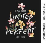 typography slogan with tropical ... | Shutterstock .eps vector #1037553112
