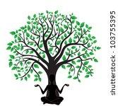 woman in yoga tree asana sport... | Shutterstock .eps vector #103755395