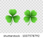 vector realistic clovers with... | Shutterstock .eps vector #1037578792