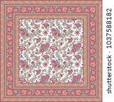 bandanna  paisley pattern | Shutterstock .eps vector #1037588182