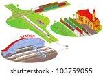 fun cartoon map elements ... | Shutterstock .eps vector #103759055