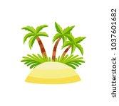 vector flat beach sand island...   Shutterstock .eps vector #1037601682