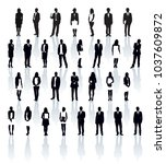 business people silhouettes.... | Shutterstock .eps vector #1037609872