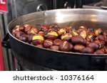Roasted Colorful Chestnuts In...