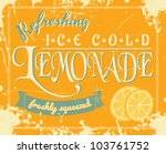 lemonade poster in vintage... | Shutterstock . vector #103761752