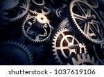 gears detail  3d illustration | Shutterstock . vector #1037619106