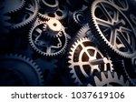 gears detail  3d illustration | Shutterstock . vector #1037619106