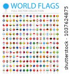 all world flags set   new... | Shutterstock .eps vector #1037624875