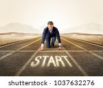 young determined businessman...   Shutterstock . vector #1037632276