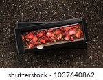handmade chocolate with dried...   Shutterstock . vector #1037640862