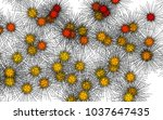 light colored vector cover with ... | Shutterstock .eps vector #1037647435